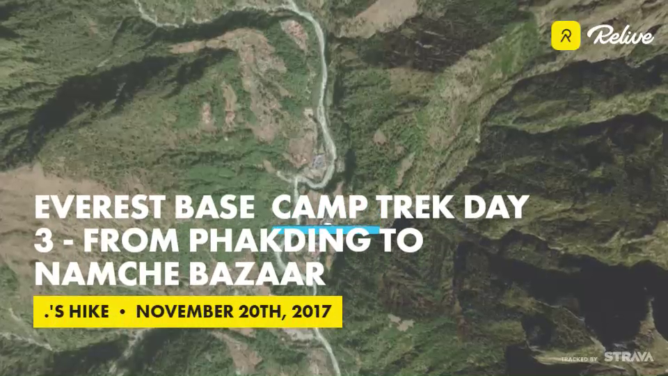 Relive 'Everest Base Camp trek Day 3 - From Phakding to Namche Bazaar'