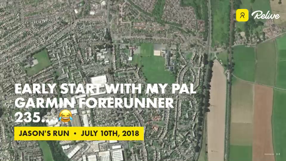 Relive 'Early start with my pal Garmin forerunner 235    😂'